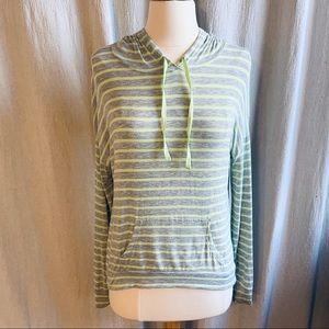 Pink Republic Green & Gray Hooded T-Shirt Small